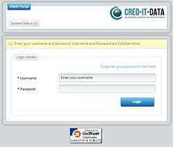 New Cred-it-data Portal